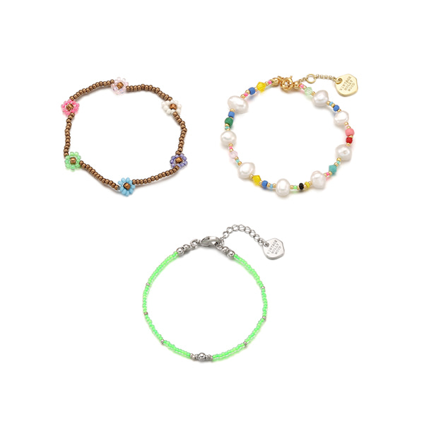 [3SET]Juicy Fruity Bracelets