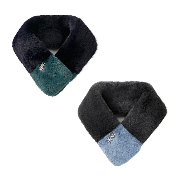 [NEW]Jewelry Fur Muffler_2color