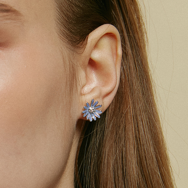 Blue Margaret Post Earring
