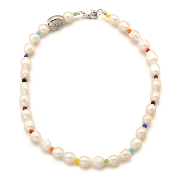 40% Rainbow Beads n Pearl Necklace