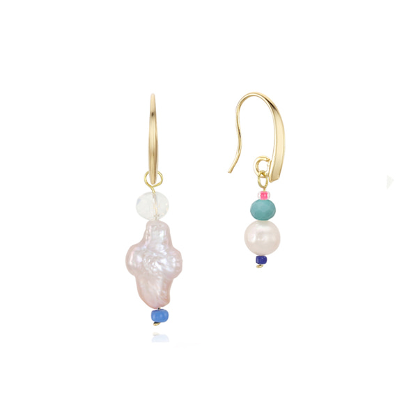 [뷔,이하이 착용]Unbalance Beads Hook Earring