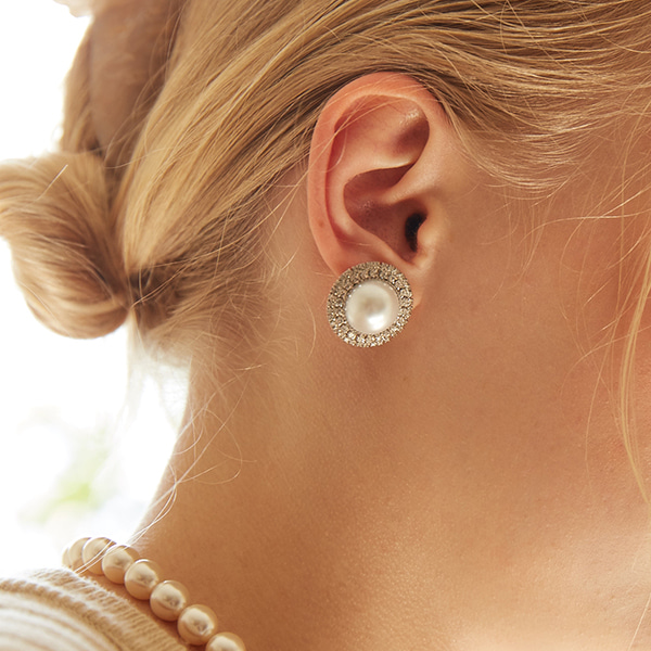Grace Pearl Post Earring