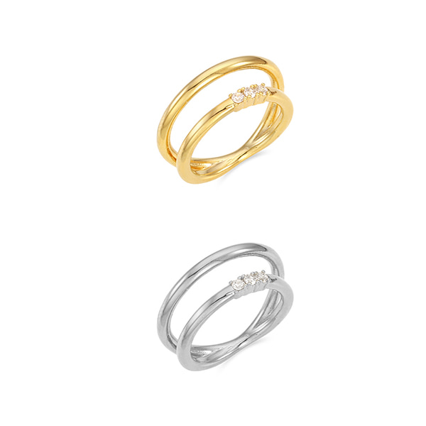 Crystal Line Layered Ring_2Color